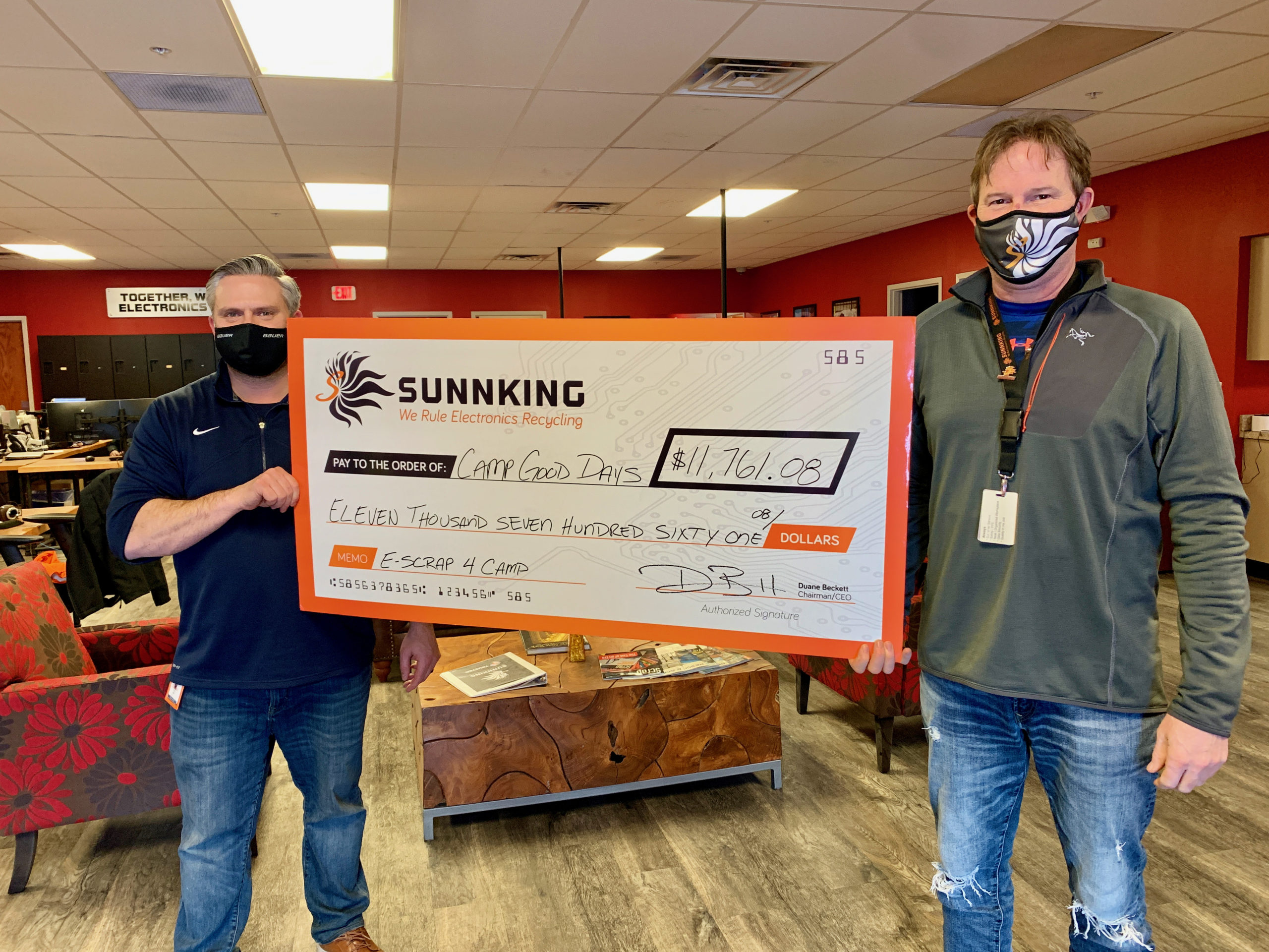 Sunnking Raises More Than $11,000 for Nonprofit Helping Children and Families With Cancer